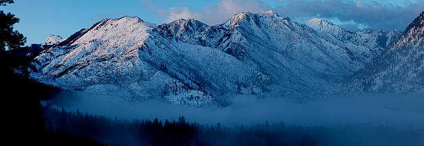 morning over cascade mountains - leavenworth washington stock photos and pictures
