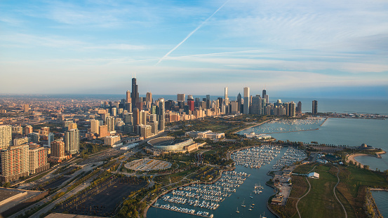 Morning over Chicago