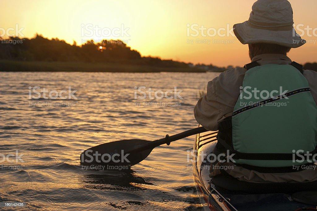 Morning Paddle stock photo