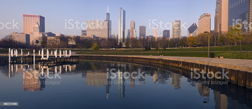 panorama di mattina di Chicago foto stock royalty-free