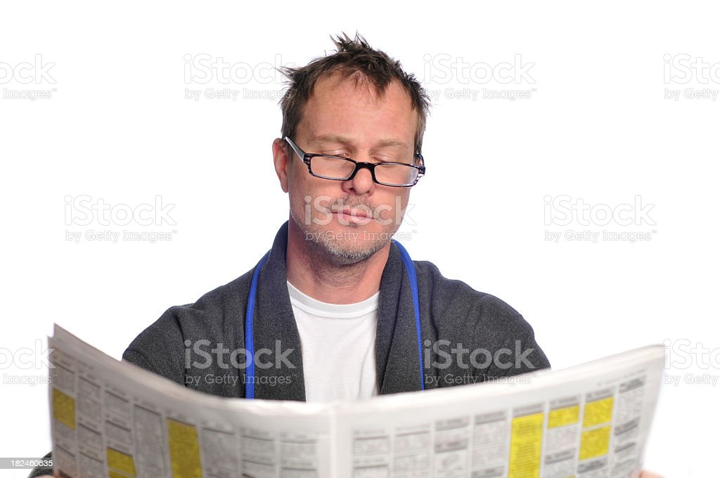 morning paper royalty-free stock photo