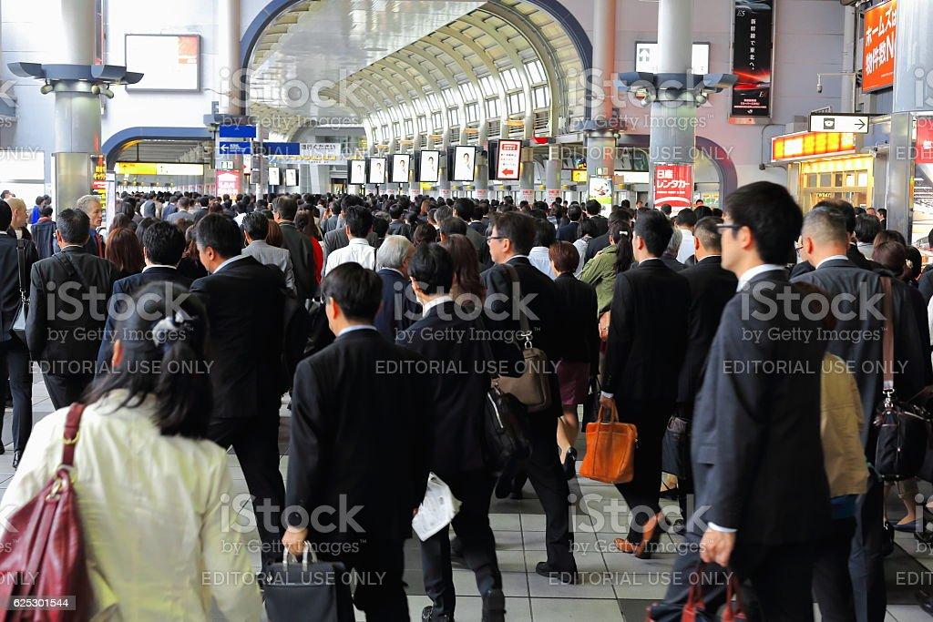 Morning peak hour in the metro station. Tokyo-Japan. 7668 stock photo