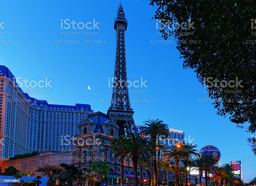 Morning picture of Paris Casino stock photo