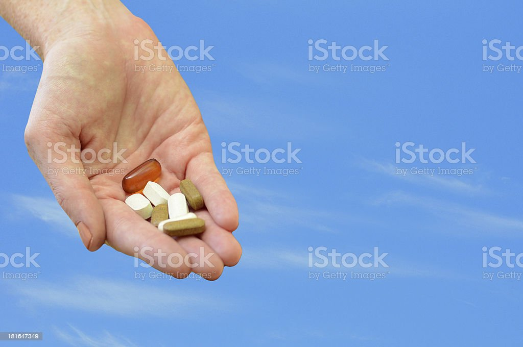 morning pills or medicine royalty-free stock photo