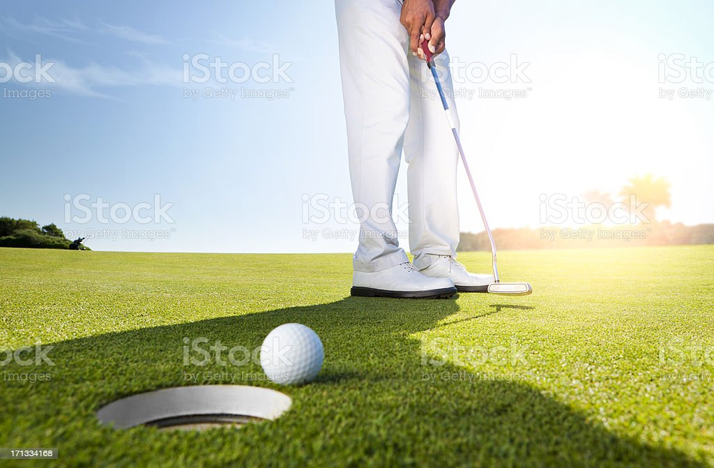 Morning putt stock photo