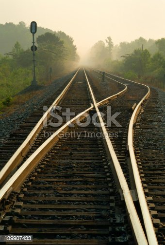 This rail is on my way to work.  I stopped often for two weeks until I found the correct lighting and time of day.  Trussville, AL.