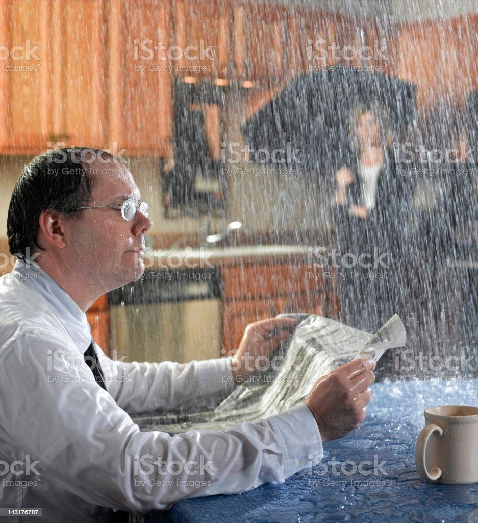 Morning Rain stock photo