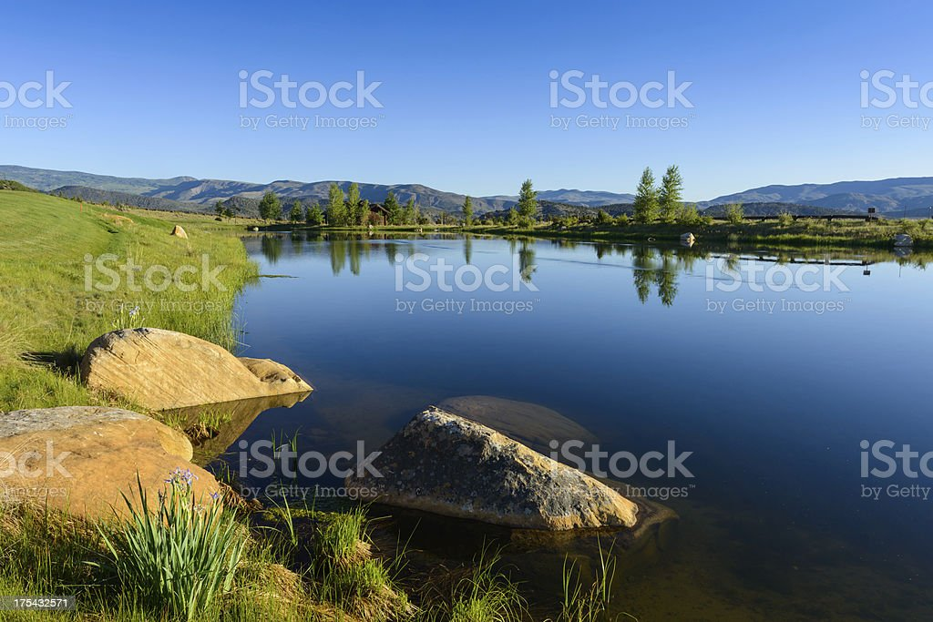 Morning Refelections in Small Lake royalty-free stock photo