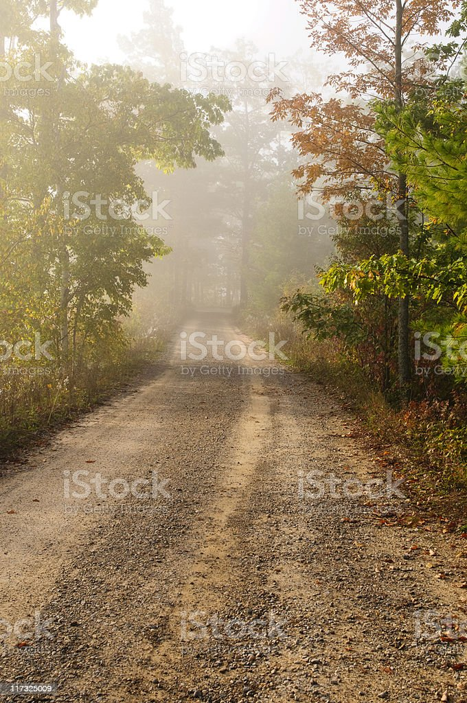 Morning Road stock photo