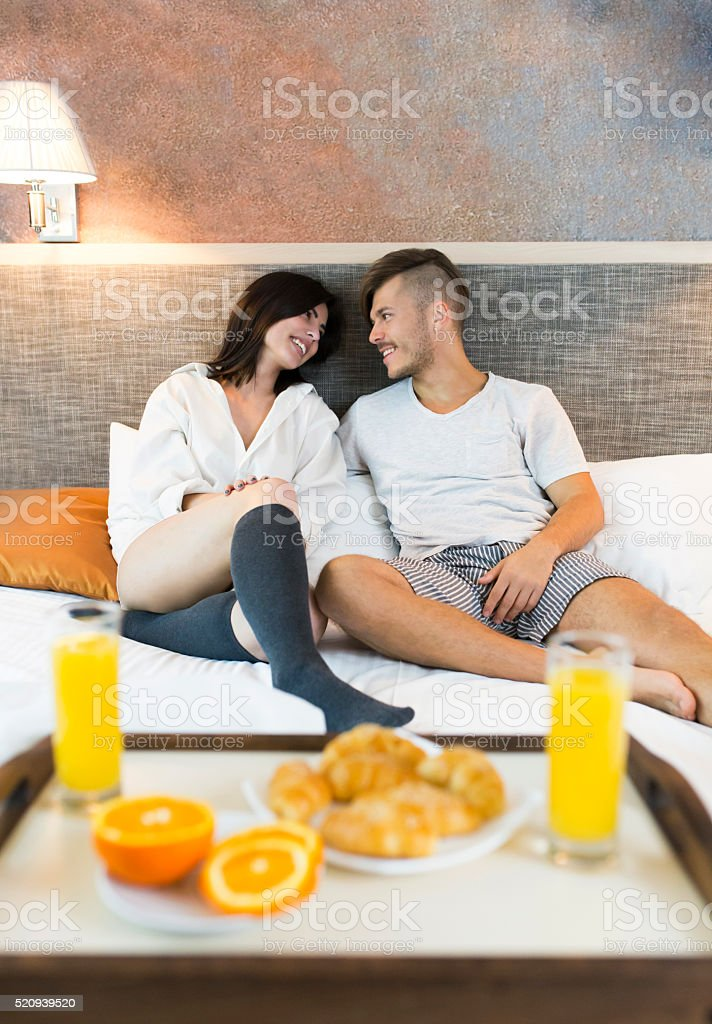 Bedroom Home Interior Waking Up Adult Bed Morning Romance