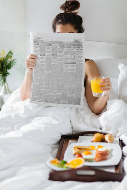 Morning routine stock photo