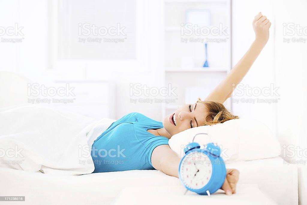 Morning routine. stock photo