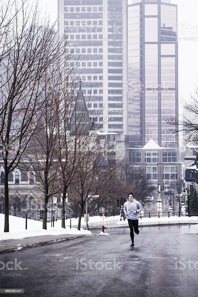 Morning Run Downtown royalty-free stock photo