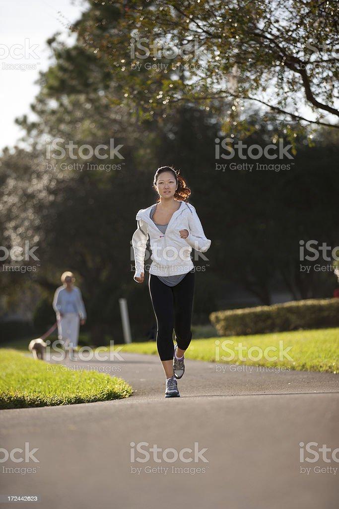 morning run royalty-free stock photo