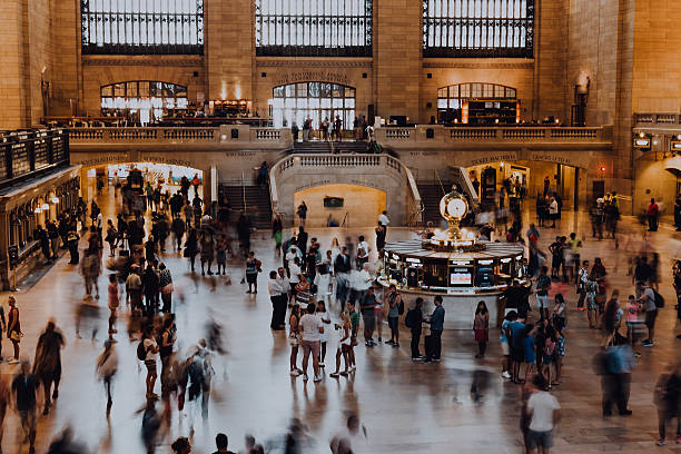 Morning Rush at Grand Central - foto de stock