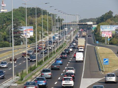 istock Morning rush on highway 1023378966