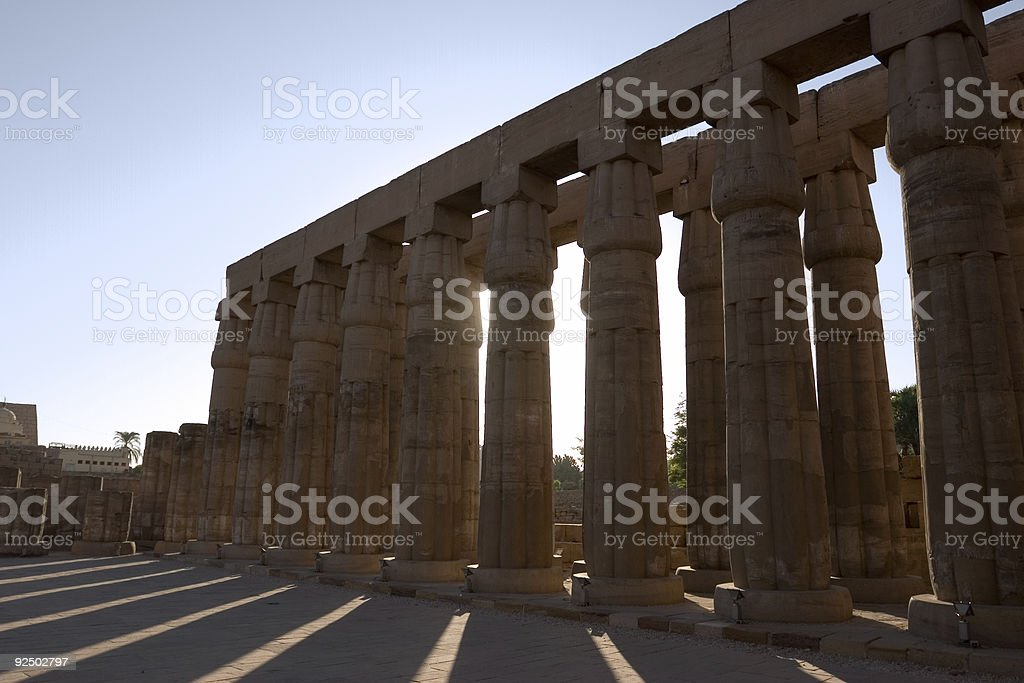Morning Shadows, Luxor Temple royalty-free stock photo