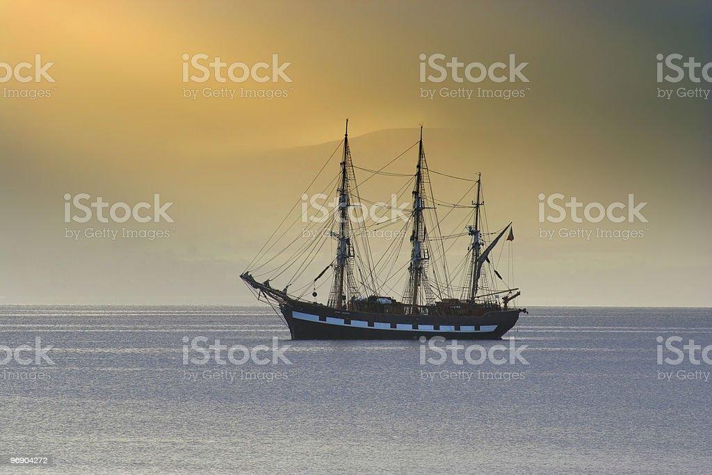 morning ship royalty-free stock photo
