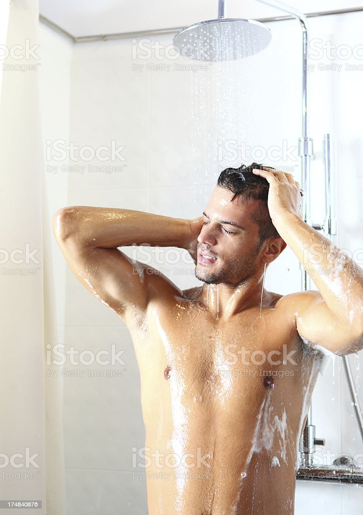 Morning shower. royalty-free stock photo