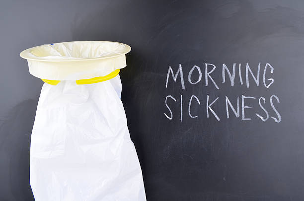 Morning Sickness Concept stock photo