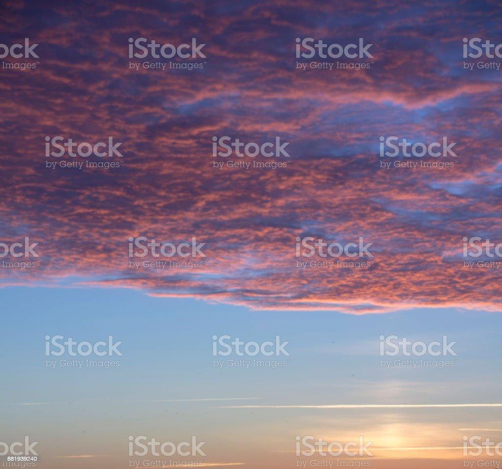 January morning sky