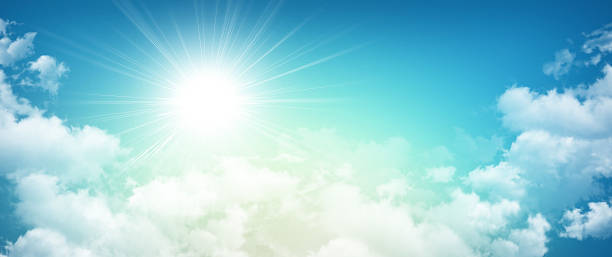 morning sky sensation - heaven stock photos and pictures