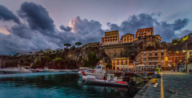 Morning Storm Brewing In Sorrento stock photo