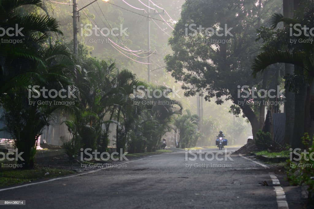 Morning street 6 stock photo
