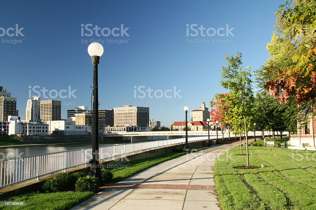 Morning Stroll In The Park 1 Skyline royalty-free stock photo
