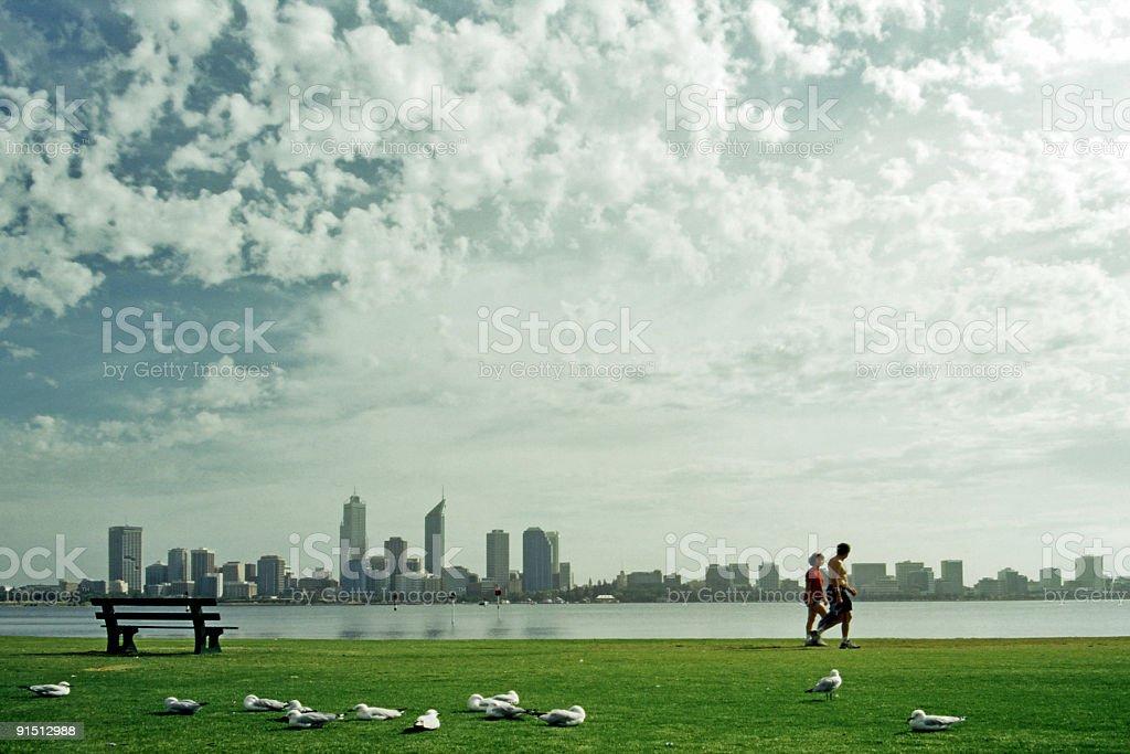 Morning Suburban Scene stock photo
