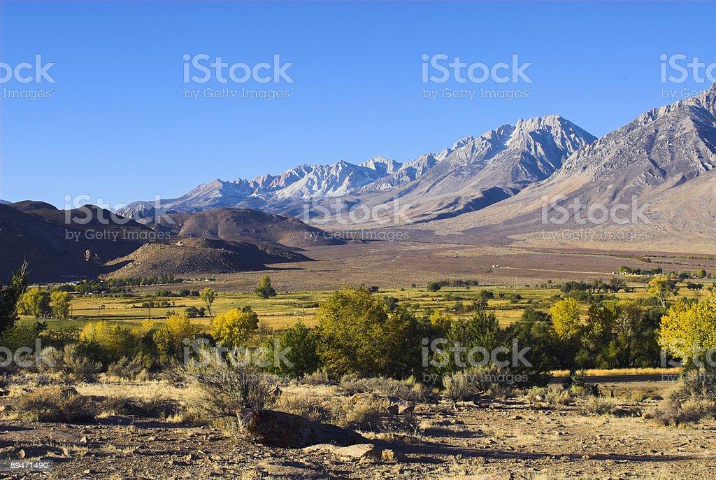 Morning Sun on California's Sierra Nevada royalty-free stock photo