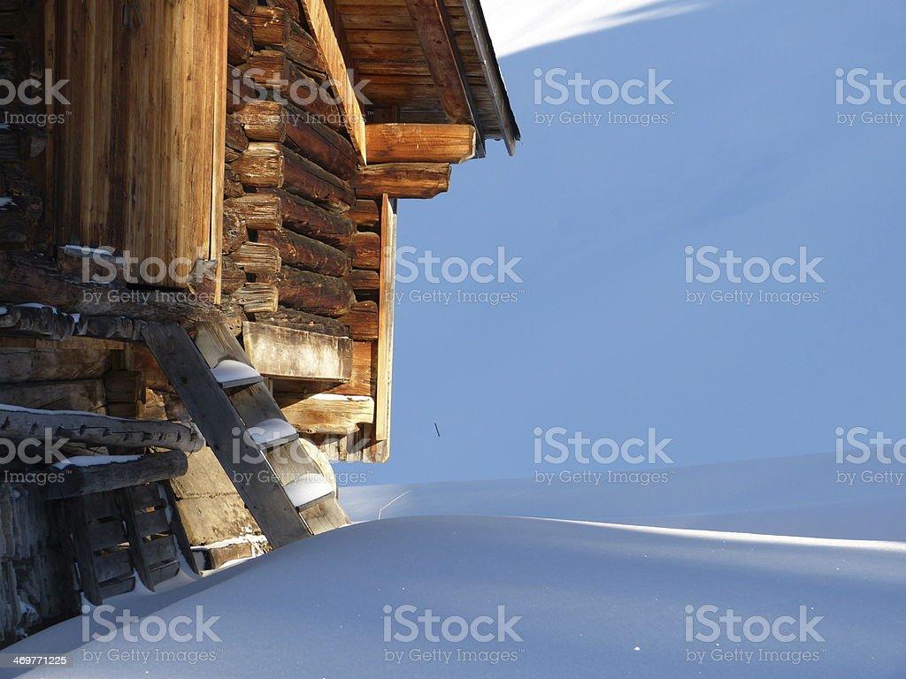 Morgensonne auf dem ski-hut – Foto