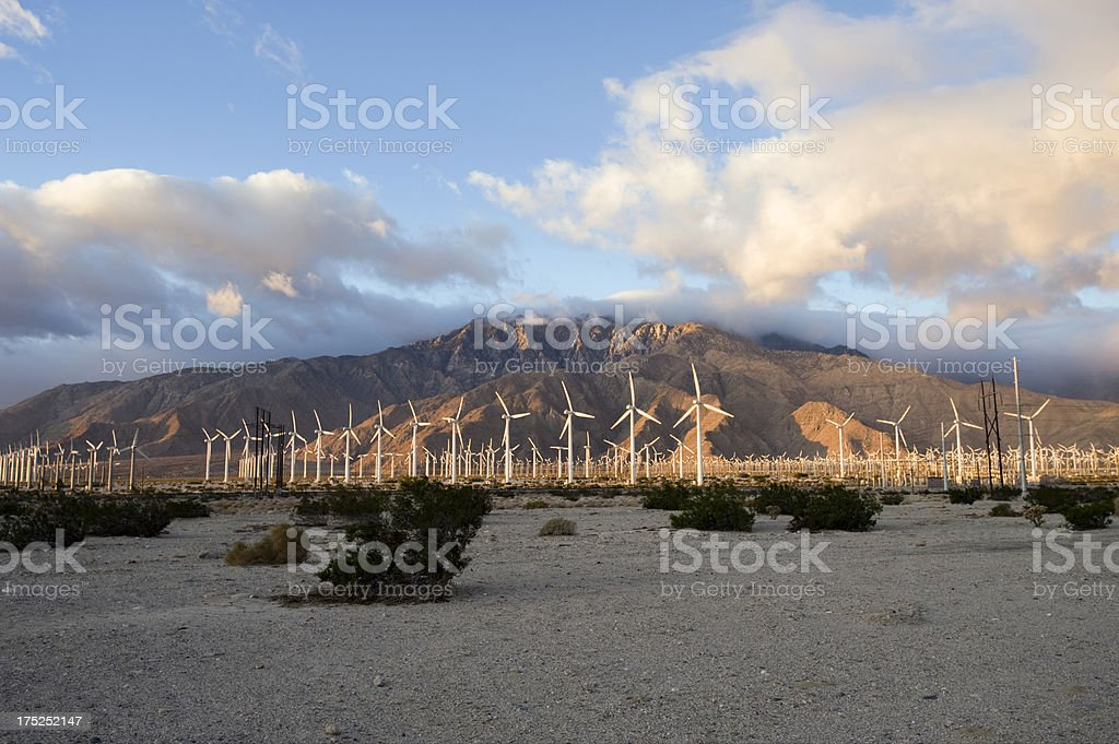 morning sun, wind, generating power royalty-free stock photo