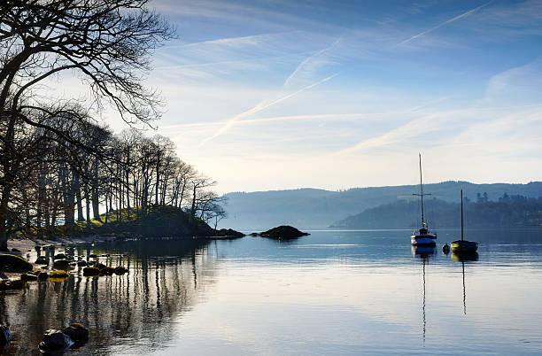Morgen Sonnenschein auf dem Lake Windermere – Foto