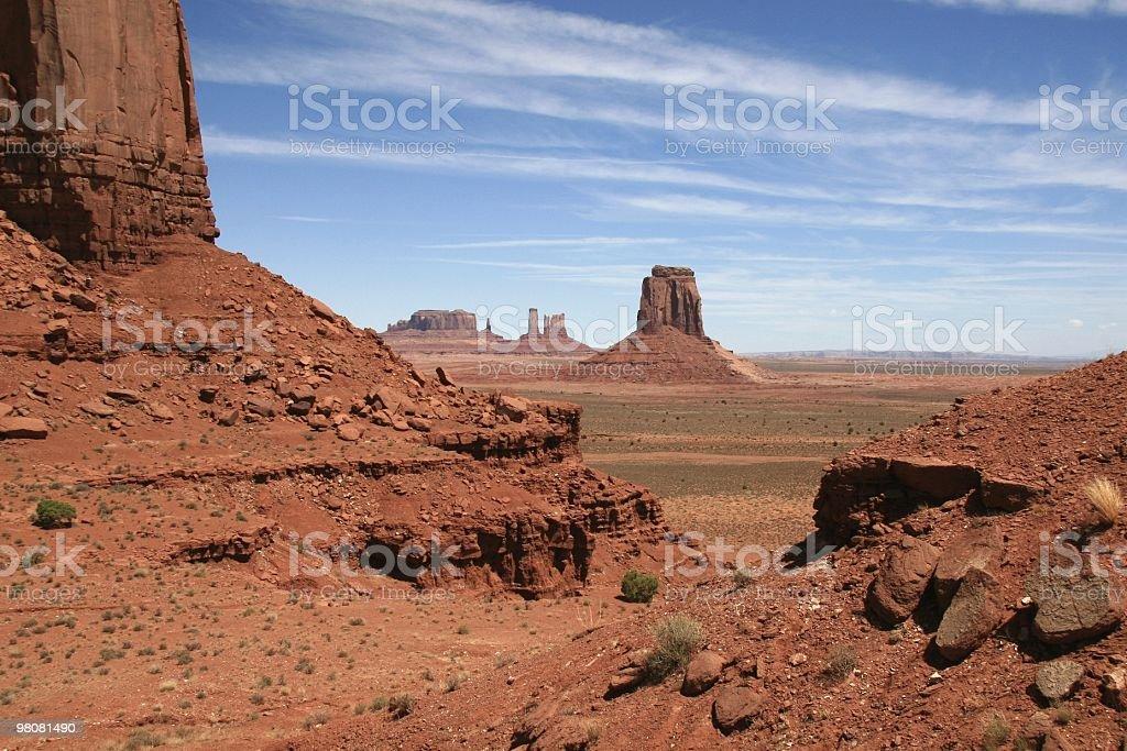 Mattina di sole nella Monument Valley Arizona, Stati Uniti sud-occidentali foto stock royalty-free