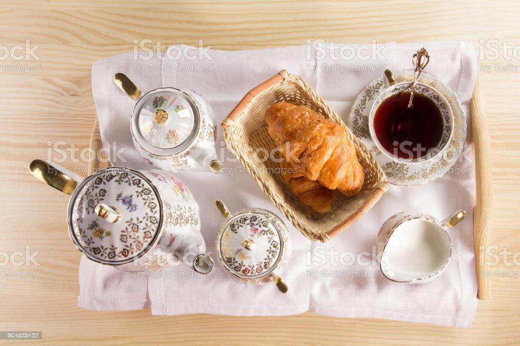 Morning tea concept. stock photo
