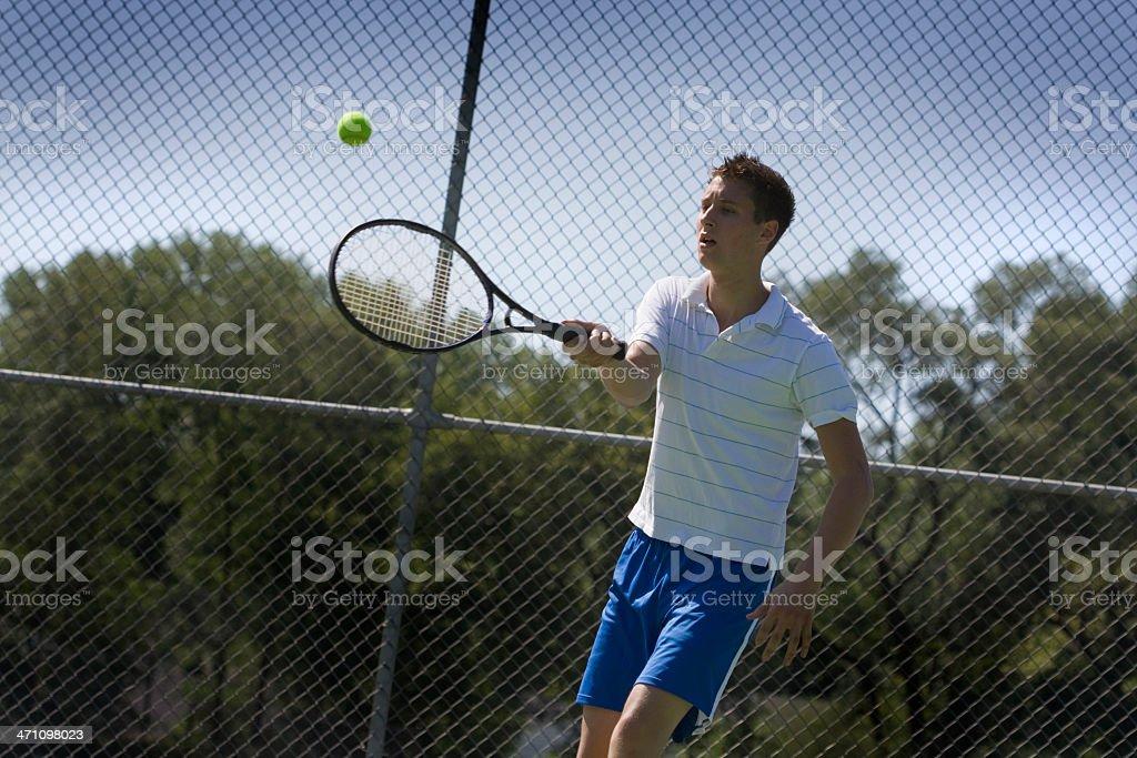 Morning Tennis stock photo