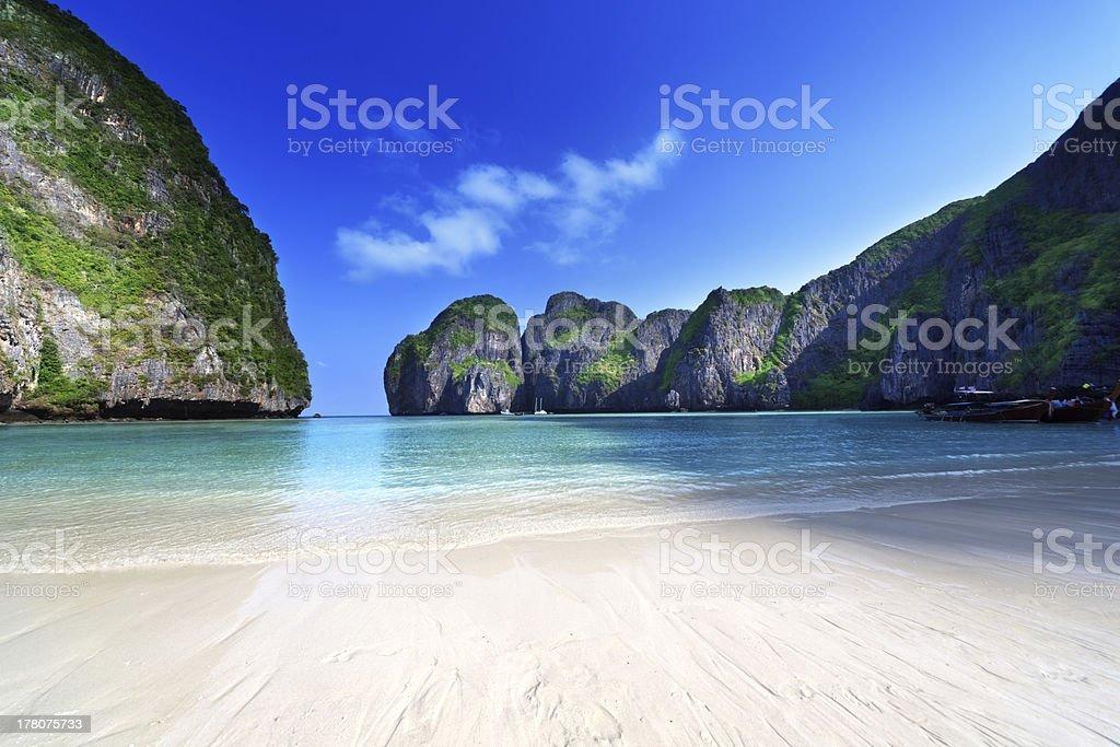 morning time at  Maya bay, Phi-Phi Leh island,Thailand royalty-free stock photo