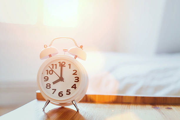 morning time background, alarm clock - alarm stock pictures, royalty-free photos & images