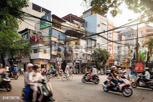 istock Morning Traffic on Lo Duc Street in Hanoi Vietnam 516728776