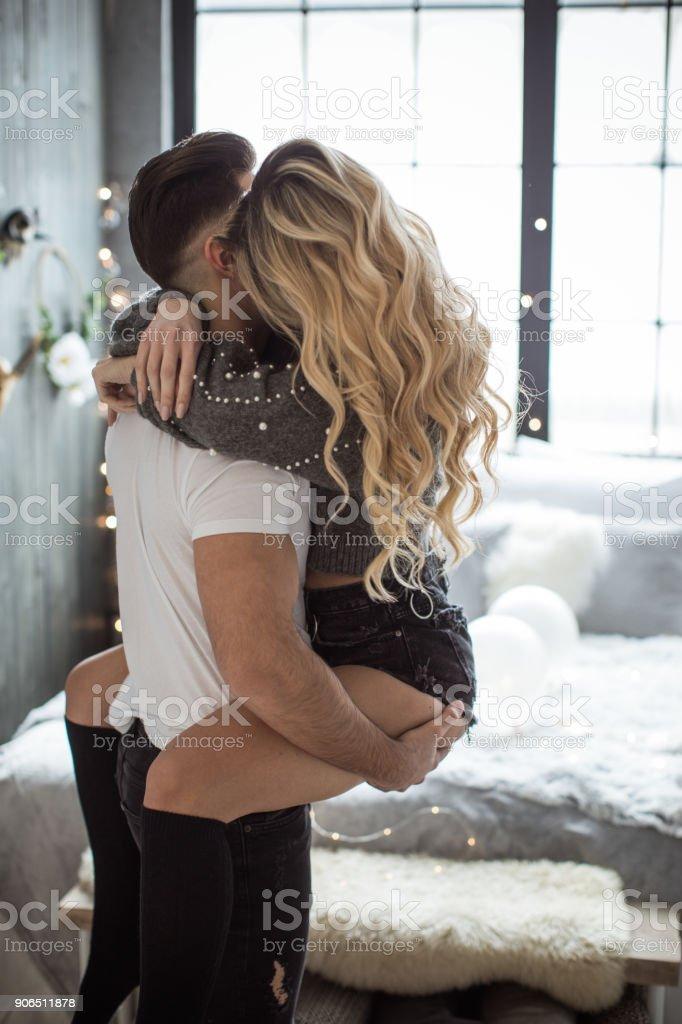 Morning Valentine's romance stock photo