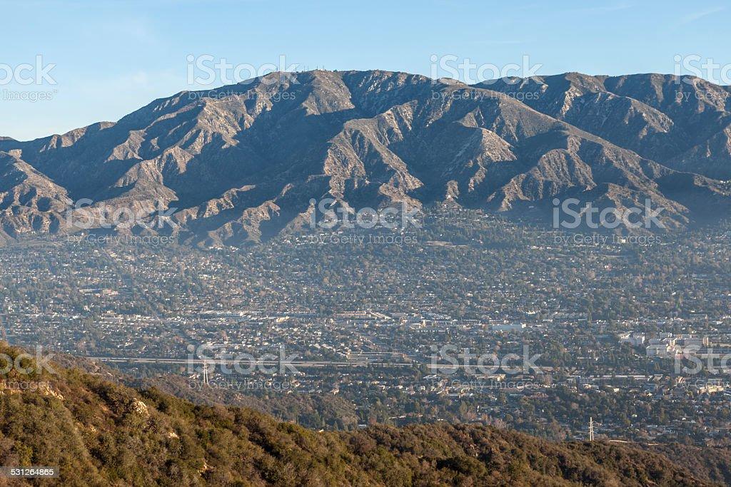 Morning Valley Haze in Southern California stock photo