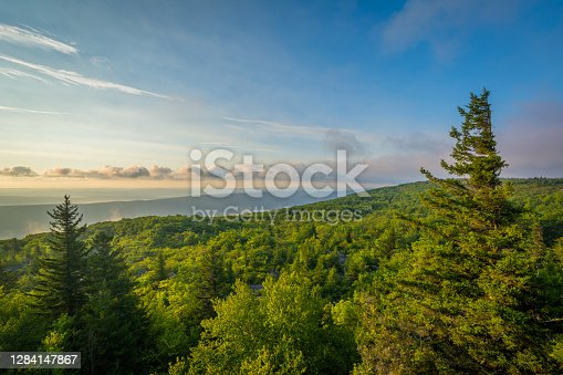 istock Morning view from Bear Rocks Preserve in Dolly Sods Wilderness, Monongahela National Forest, West Virginia 1284147867