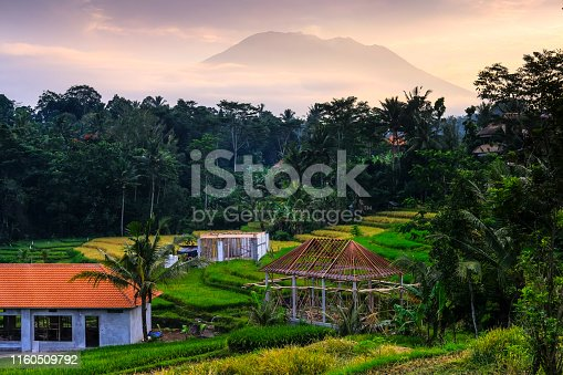 Private villas and new developments for tourism are sprouting up all over the island of Bali, even in the quiet village of Sidemen, with its beautiful views of the Mount Agung.