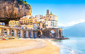 Morning view of Amalfi cityscape, Italy