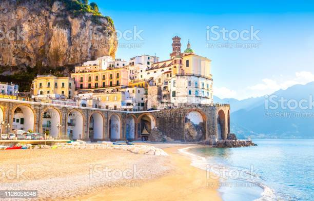 Morning view of amalfi cityscape italy picture id1126056048?b=1&k=6&m=1126056048&s=612x612&h=pdzadkf 3q j0f6gczzr26delbvie6skdceac3ig2py=