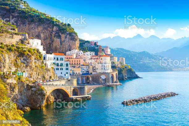 Morning view of amalfi cityscape italy picture id947948656?b=1&k=6&m=947948656&s=612x612&h=noandfig8sdqagwcwbuywbehbug4c2fktwijpwak8di=