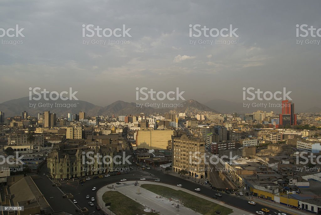 Morning view of Lima royalty-free stock photo
