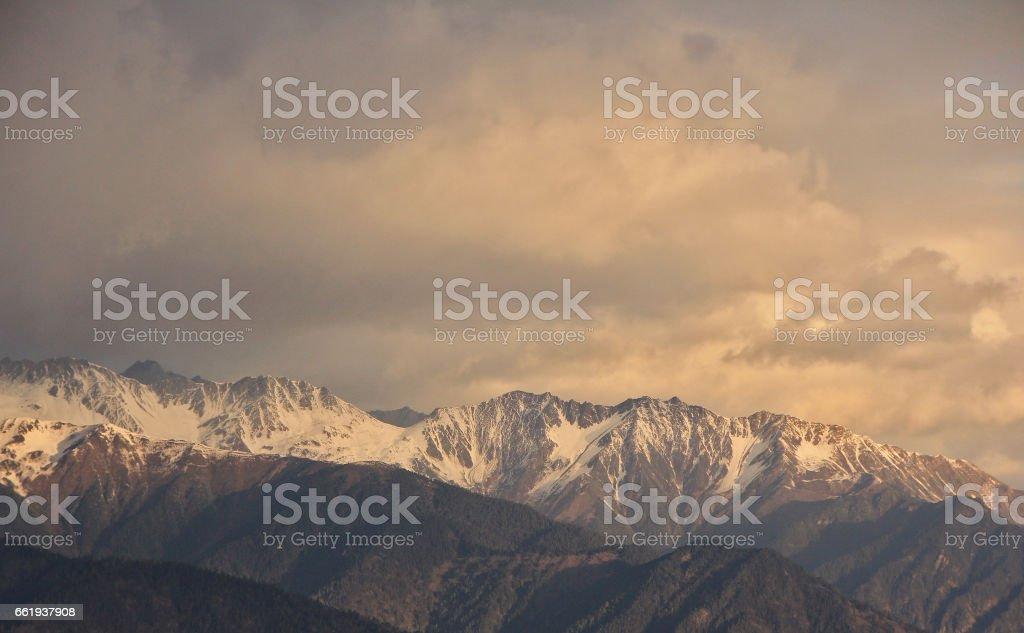 Morning View of Meili Snow Mountain royalty-free stock photo