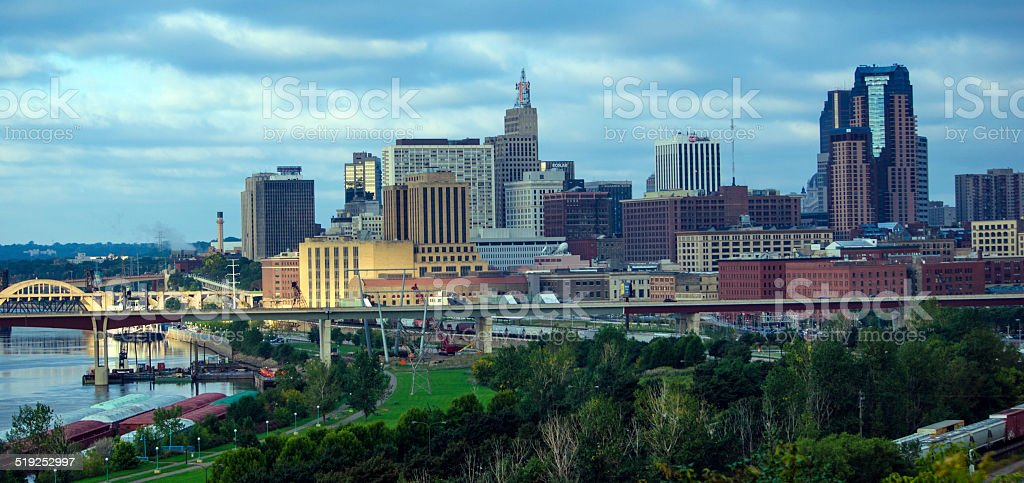 Morning view of St. Paul skyline stock photo